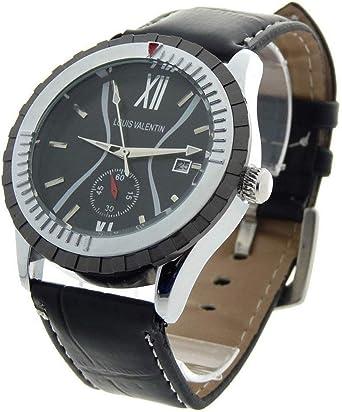 Louis Valentin Louis Valentin-LVN1 - Reloj Color Negro: Amazon.es ...