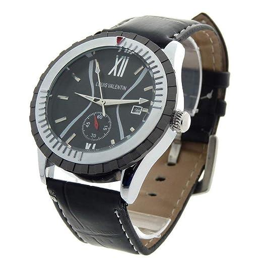Louis Valentin Louis Valentin-LVN1 - Reloj Color Negro: Amazon.es: Relojes