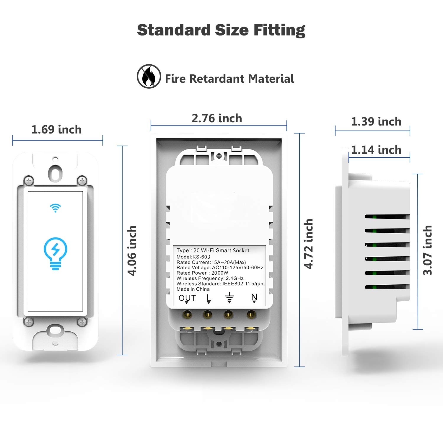 Smart Switch Works With Alexa In Wall Light Mobile Phone App 3 Way Wiring Diagram Basic Circuit Breaker Sizing Iphone Remote Control Sensitive Touch Wireless