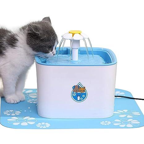 ADOV Fuente Gatos, 2.5L Dispensador Automático de Agua Eléctrico con 3 Etapas Filtración,