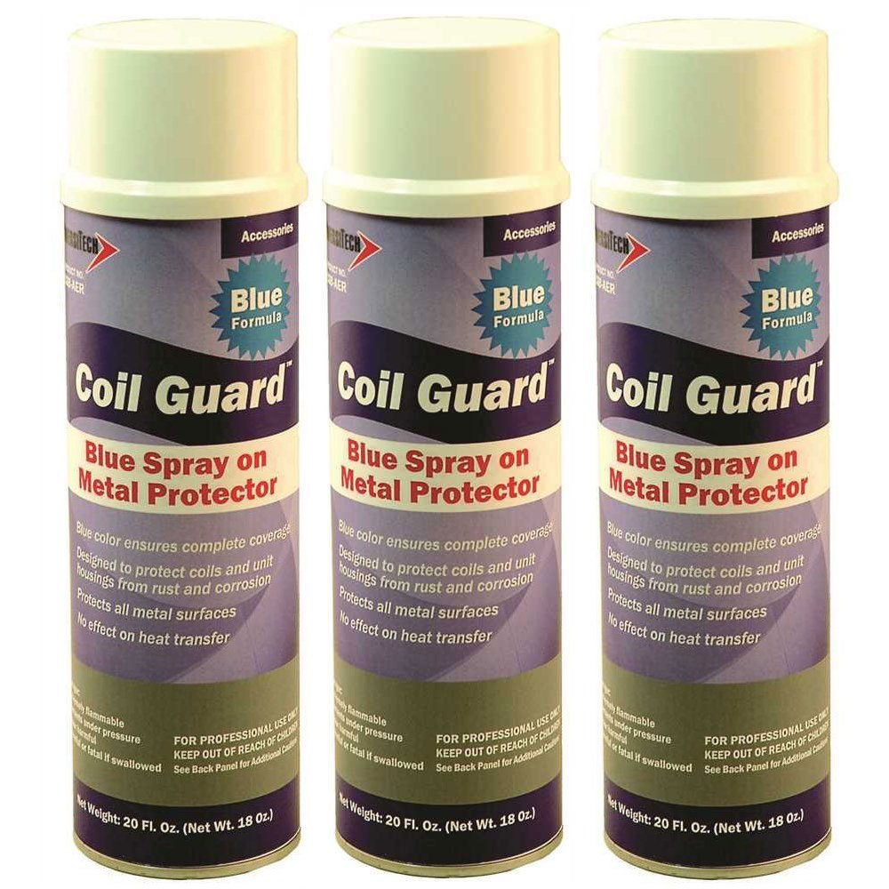 Diversitech CGB-AER Blue Coil Guard Aerosol Spray 20 Oz, 3-Pack