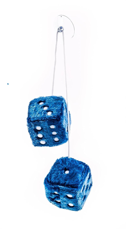 Plüschwürfel als Paar mit Band und Saugnapf, verstellbar, 7,5 cm, lieferbar in den Farben Rot, Blau oder Weiß (Rot) ALL Ride