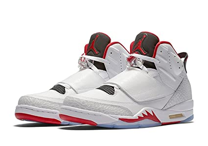 new products 071a5 beeb5 Image Unavailable. Image not available for. Colour  512245-112 MEN SON OF JORDAN  WHITE GYM RED BLACK