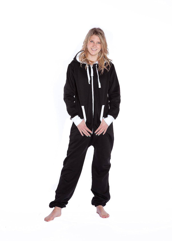 889dfd0cc22e Amazon.com  Big Feet Black Hoodie Jumpsuit Onesie Playsuit Hooded Loungewear  for Men   Women  Clothing