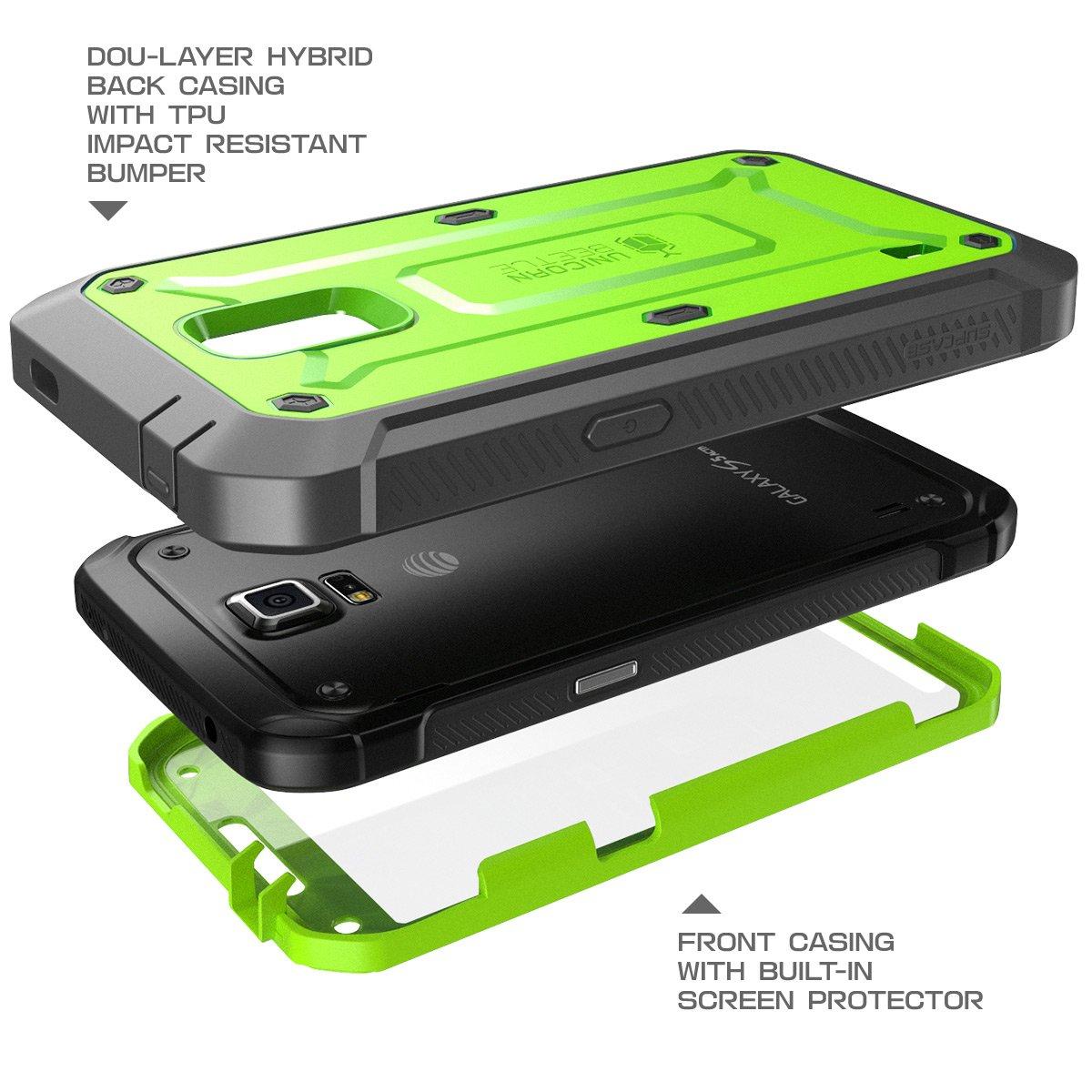 fffc148946c Samsung Galaxy S5 funda SUPCASE activo (para SM-G870A de agua y resistente  a los golpes versión smartphone) - unicornio Escarabajo serie profesional  de ...