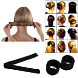 Amazon Price History for:LAUREN STORE, DIY Hair Bun Updo Fold, Wrap & Snap Styling Tool (Black)