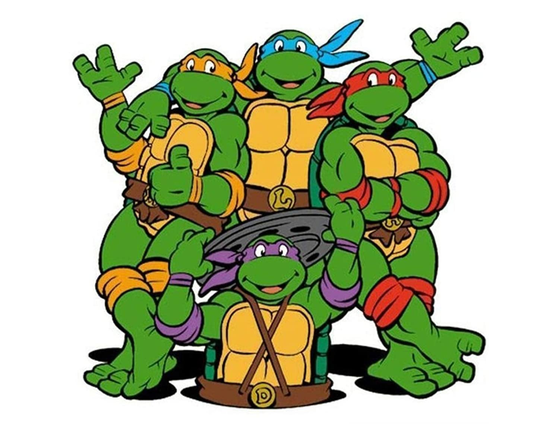 1/4 Sheet ~ 90s Teenage Mutant Ninja Turtles Cartoon Birthday ~ Edible Image Cake/Cupcake Topper!!!