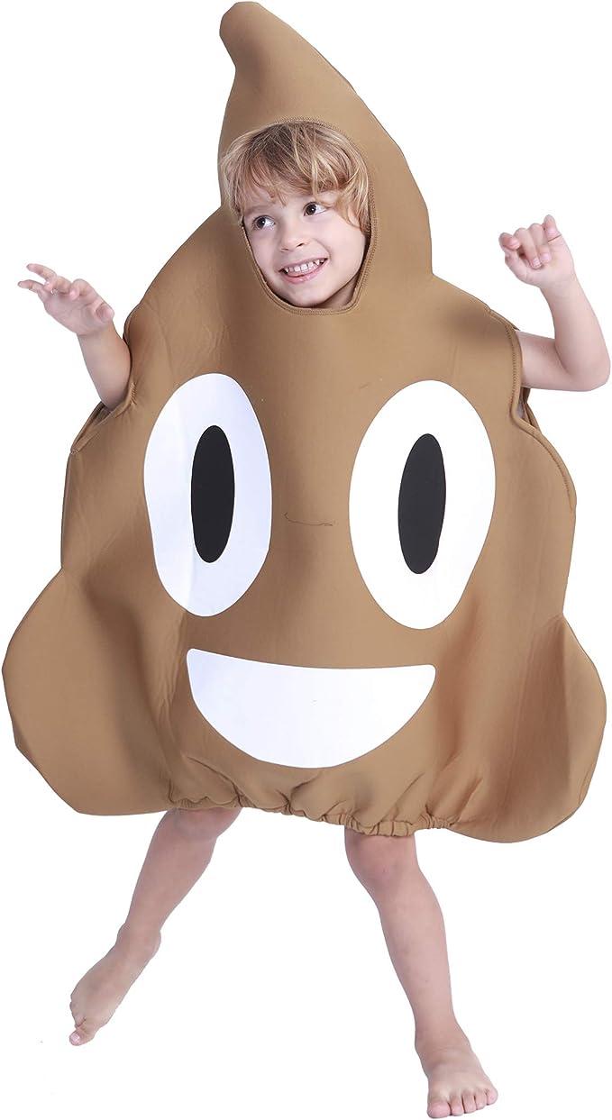 EraSpooky Niños Poop Emoji Disfraz: Amazon.es: Ropa y accesorios
