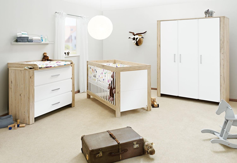 Pinolino Kinderzimmer Candeo breit groß, 3-teilig, Kinderbett (140 ...