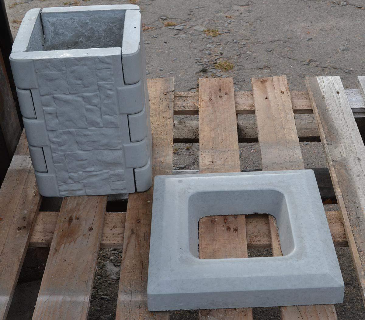 Amazon.com: Betonex - Molde para valla de cemento y columna ...