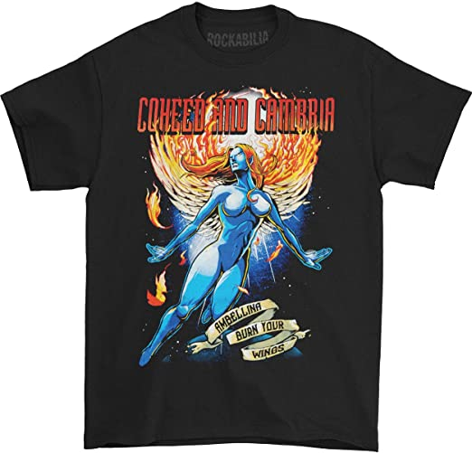 Black Youth Medium 10-12 COHEED AND CAMBRIA American Rock Band T-Shirt.