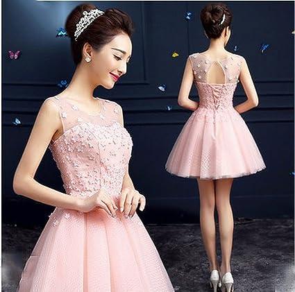 Primavera Nupcial Vestido de Dama de Honor Elegante Temperamento Novia de la Boda Tostada Vino Rosa
