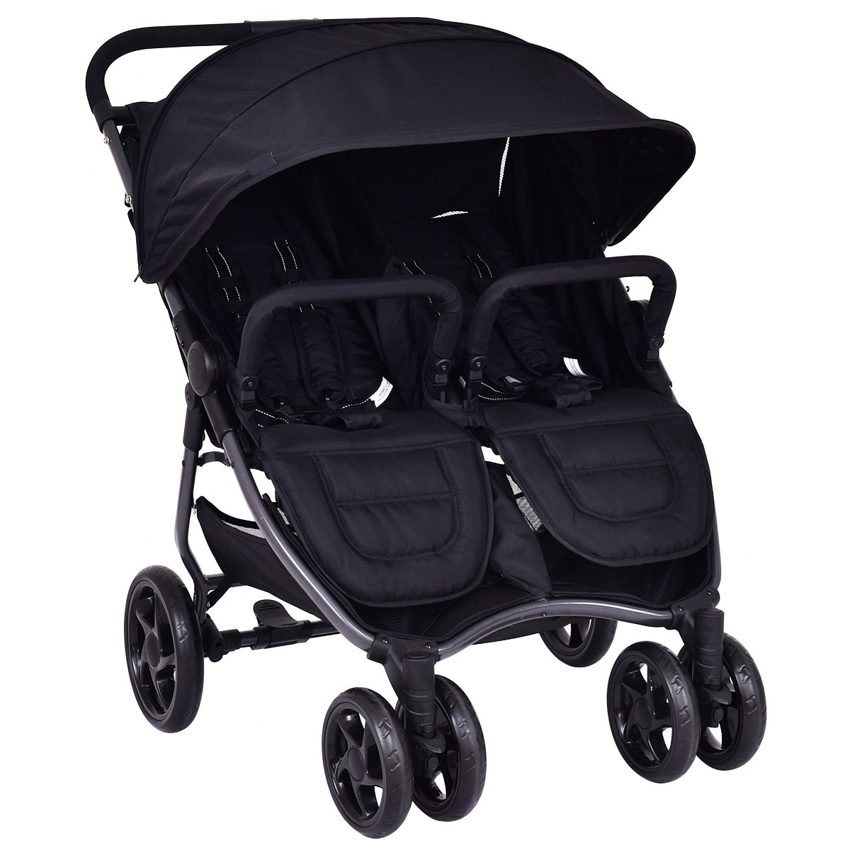 Costzon Double Stroller Foldable Aluminum Twin Travel Stroller with Umbrella