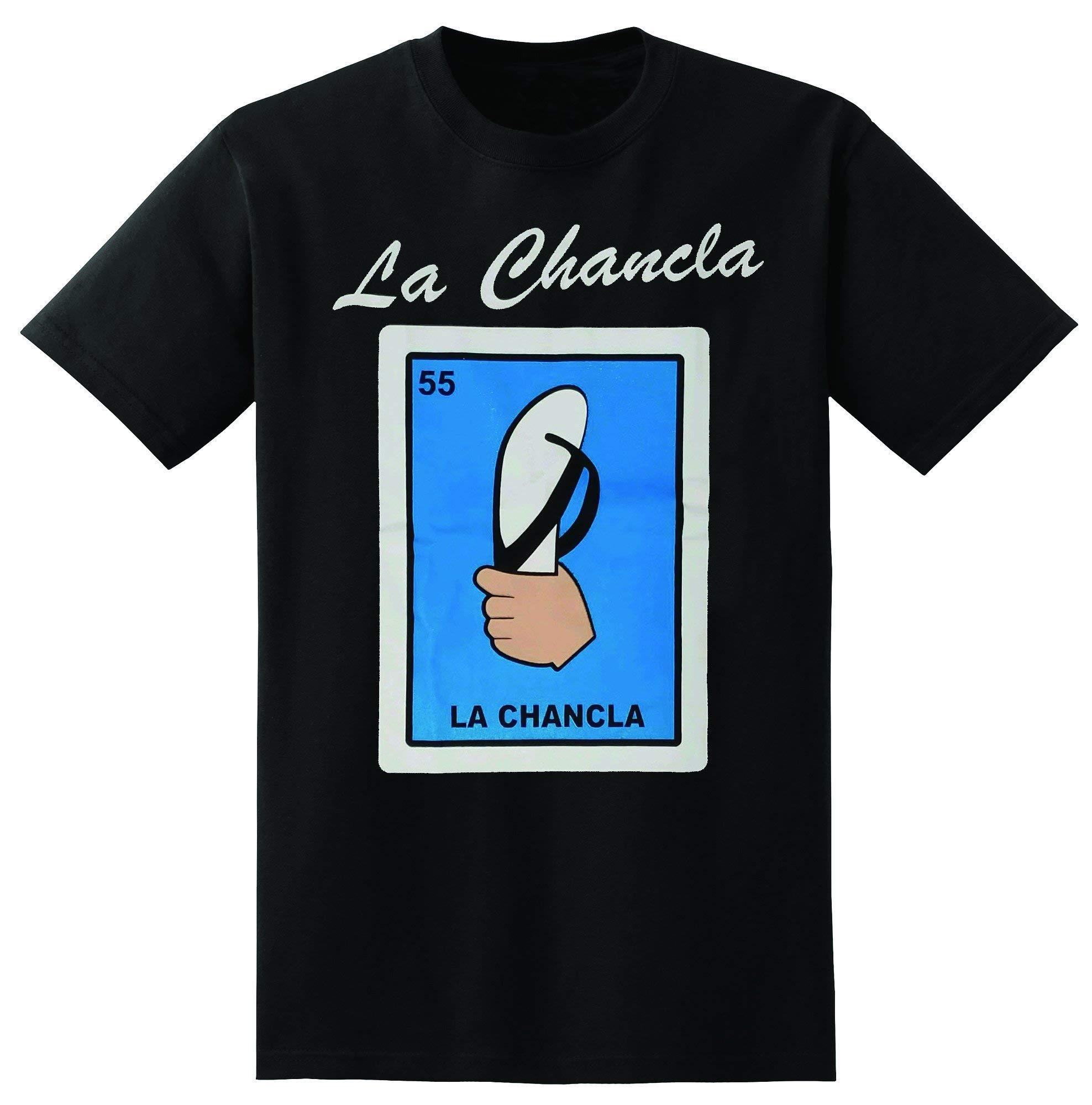 Mexican Loteria La Chancla Black Tshirt Funny