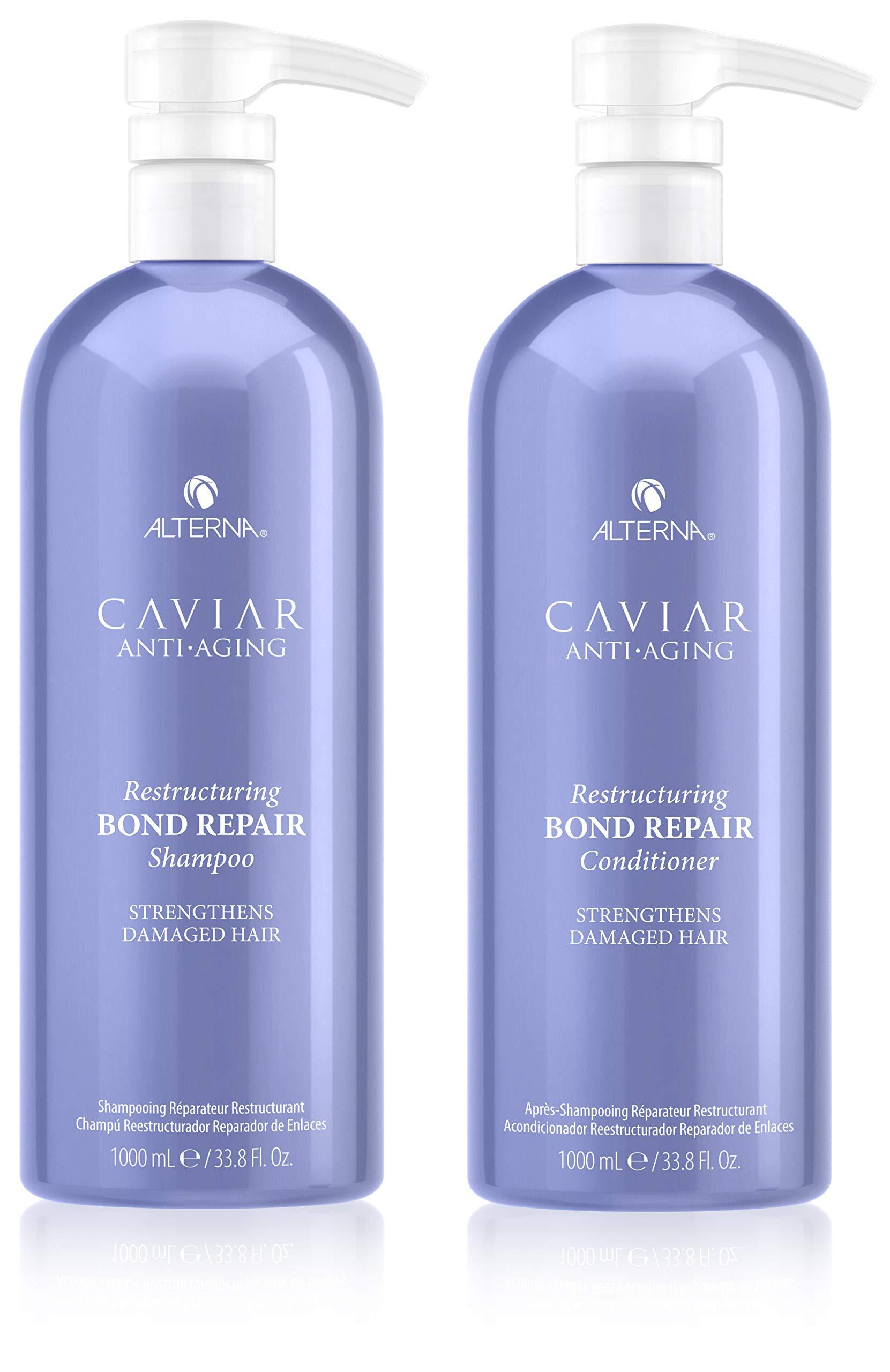 CAVIAR Anti-Aging Restructuring Bond Repair Shampoo & Conditioner Set, 33.8-Ounce by Caviar