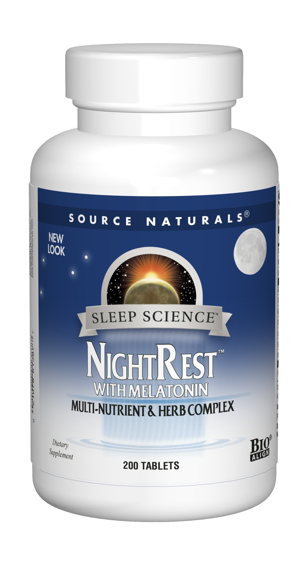 Source Naturals Sleep Science NightRest Multi-Nutrient & Herb Complex With Melatonin, GABA,