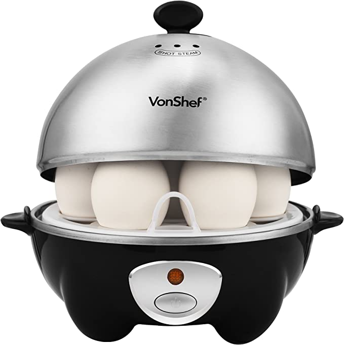 VonShef 7 Egg Electric Cooker Stainless Steel