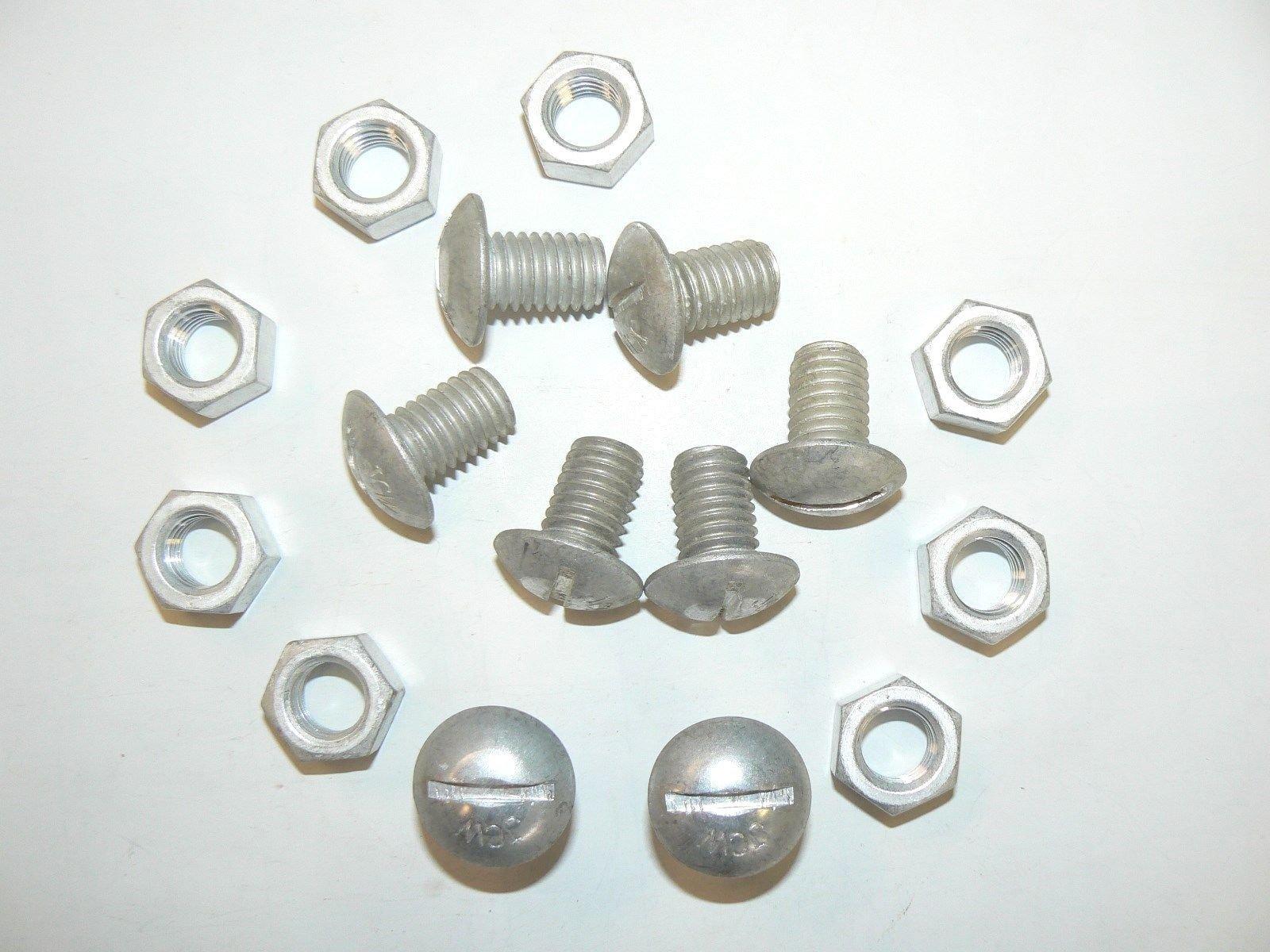 Generic YH-US3-160519-429 8yh3512yh ot of 25 Pcs. Head Machine s - w/Hex N 1/2''-13 x 3/4'' 1/2''-13 x Screws - w/Hex Nuts - uss Head Aluminum Truss 4'' Alumin Lot of 25 Pcs.