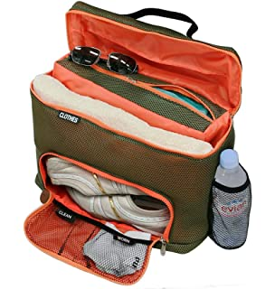 GUS Mesh Workout And Sport Gear Bag With Separate Shoe Compartment Gym Duffle For Travel