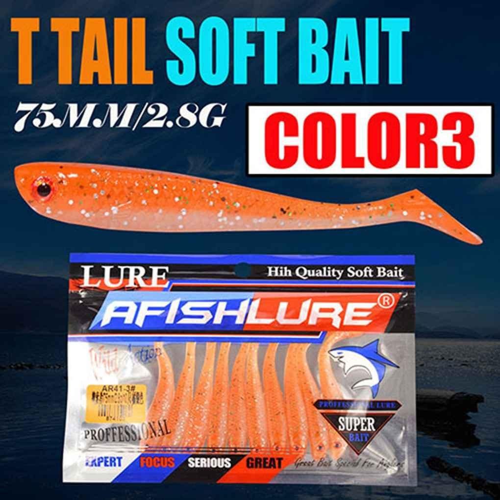 Yihaifu Un Grub T Coda di Pesce RICHIAMO T Forma Morbido Silicone di Pesce Esche Artificiali Swimbait Esche da Pesca Wobblers
