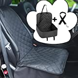 Big Ant Pet Front Seat Cover,with Bonus Waterproof & Nonslip Rubber Backing with Anchors, Extra Pockets Storage Design, Pet Seat Covers for Cars Protect Seat from Dirt for All Car, Trucks, SUVs & Vans