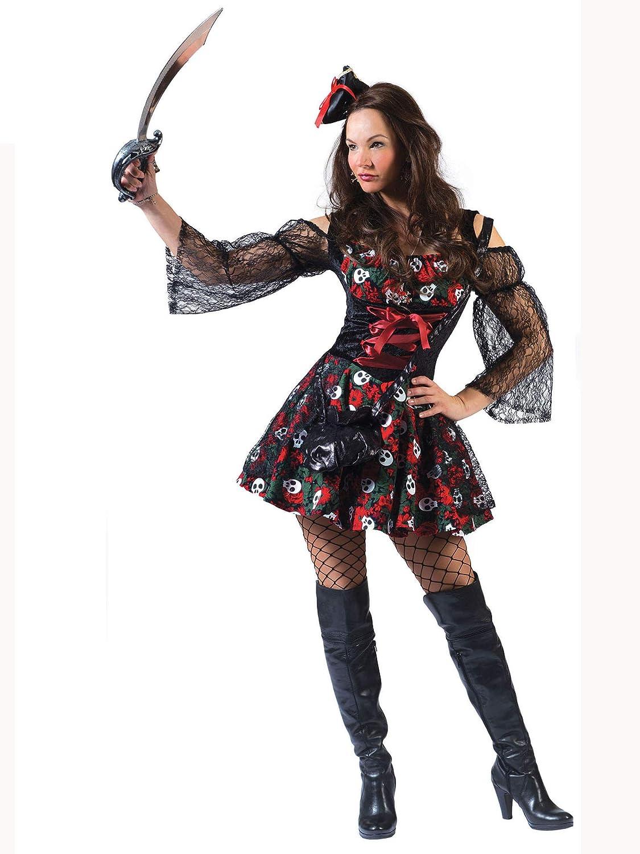 Disfraz de pirata mujer Día de los Muertos S: Amazon.es ...