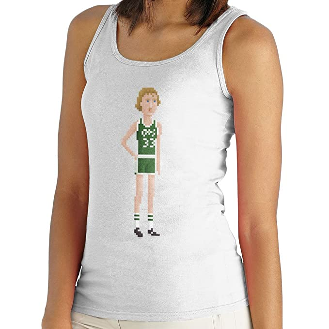 Larry Bird Boston Celtics NBA Pixel Womens Vest