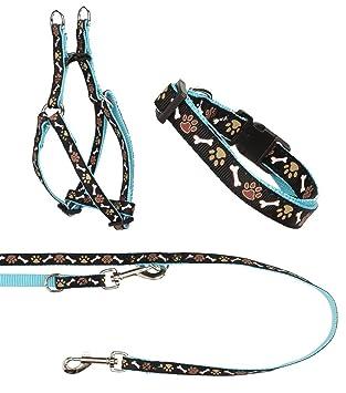 Un Juego - Collar, arnés del perro Step de in, perros - Cuerda de ...