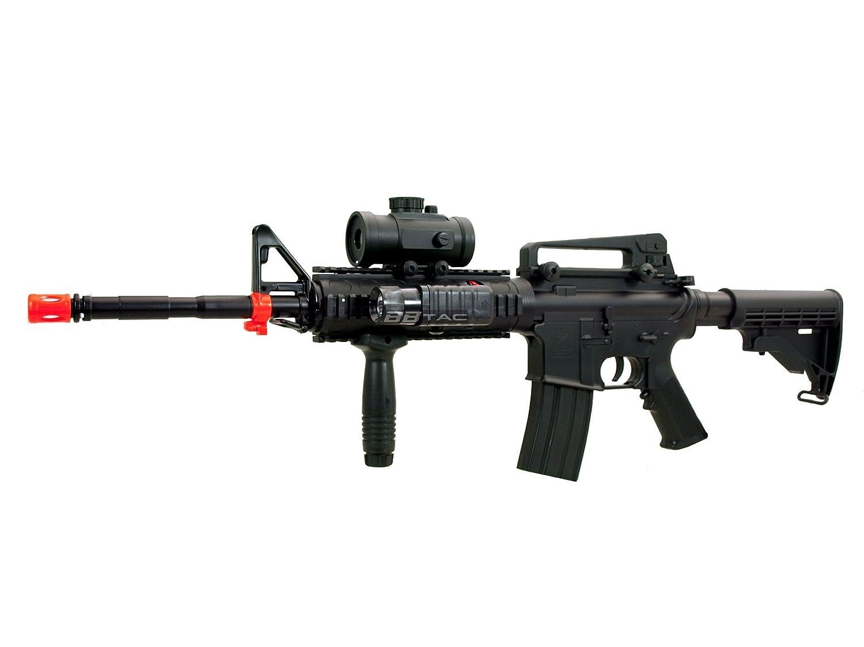 JG Airsoft M4 Commando Metal Gearbox AEG Rifle w Tightbore Barrel