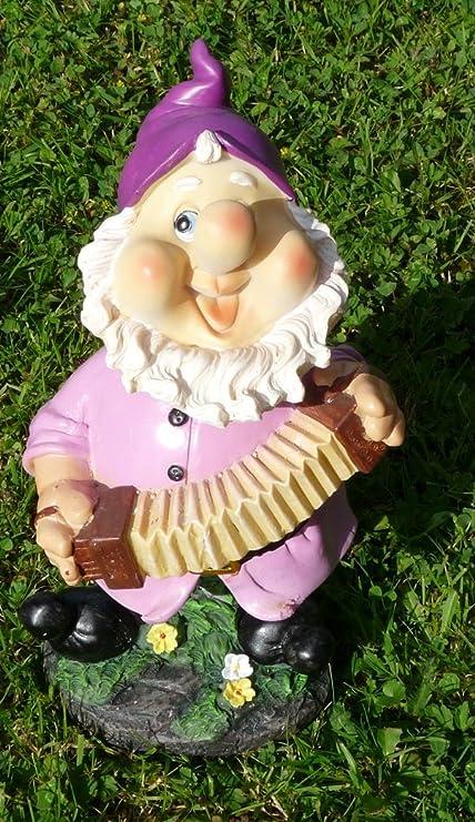 Enanito divertido con motivo de lila Gorro 22 cm Multicolor Enano figuras para casa y jardín gnomo Gorro Lila: Amazon.es: Jardín