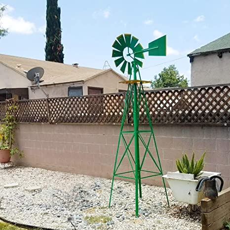 Bon Amazon.com : FDW Windmill 8FT Yard Garden Metal Ornamental ...
