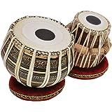 Tabla Drum Set, 2.5 Kg Black Painted Designer Brass Bayan, Beautiful Look, Sheesham Wood Dayan, Hand Made Drum Skin…