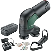Bosch Ponceuse-Polisseuse sans Fil EasyCurvSander 12 (1 Batterie, Système 12V, dans Sac Souple)