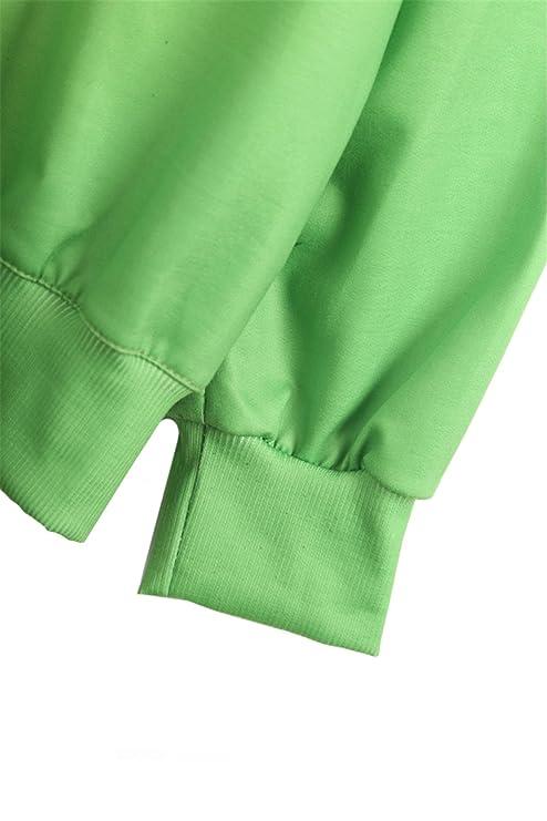 Sheinside® femeninos-Sudadera con diseño de monstruo, color verde verde Talla única: Amazon.es: Ropa y accesorios