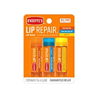 O'Keeffe's Lip Repair Lip Balm for Dry, Cracked Lips, Stick (Pack of 3: 1 Cooling...