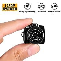 Mini Kamera, 1280P Voll HD 12 MP Surveillance Camera Überwachungskamera mit Nachtsicht/Videofunktion/Bewegungserkennung, für Home/ Office Indoor/Outdoor