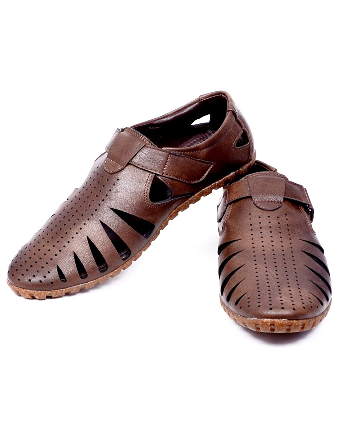 70424d3aa1c3b EL PASO Men s Faux Leather Tan Impressive Comfortable Men Sandals  Buy  Online at Low Prices in India - Amazon.in