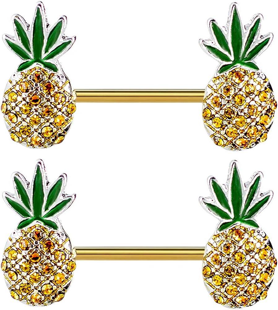 Pierce2GO Pineapple Weed Nipplerings Piercing