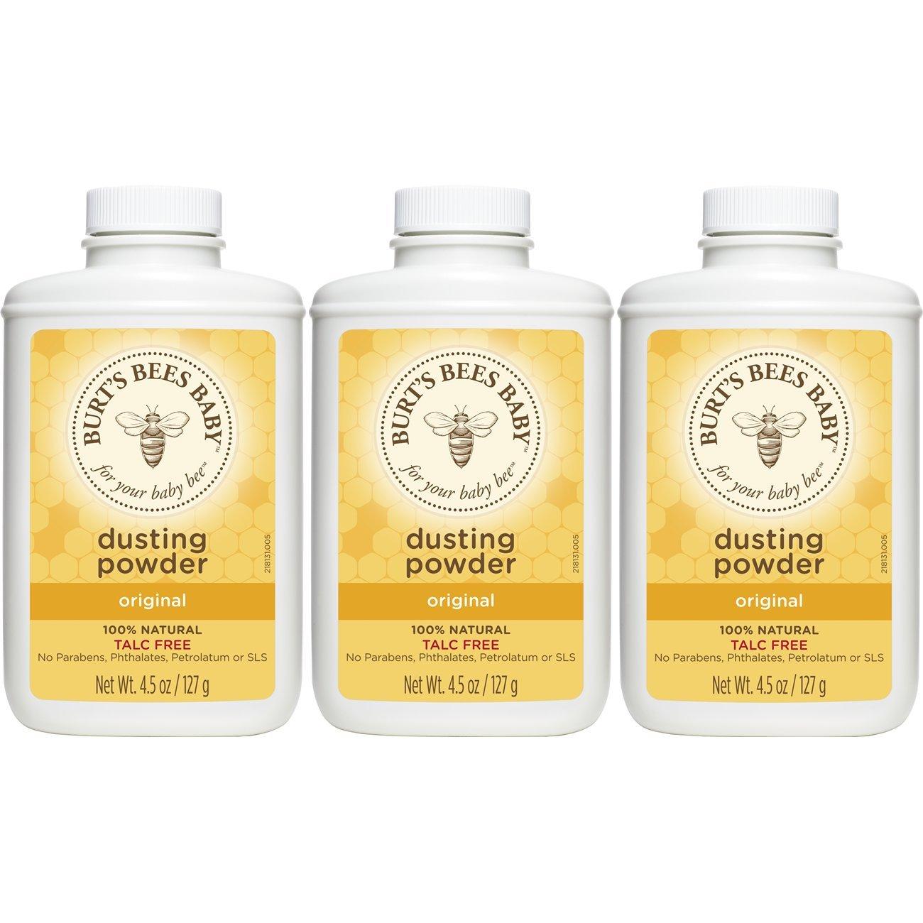 Burt's Bees Baby 100-Percent Natural Dusting Powder, 4.5 Ozs (Pack of 3) (Packaging May Vary) Burt' s Bees 36500-11 CA-3650011