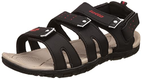 df97599e3e728 Lotto Men s Grey Black Sandals and Floaters - 6 UK India (40 EU ...