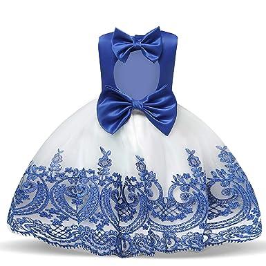 e2e82104e9 NNJXD Toddler Princess Flower Dress Baby Girls Birthday Wedding Party  Dresses