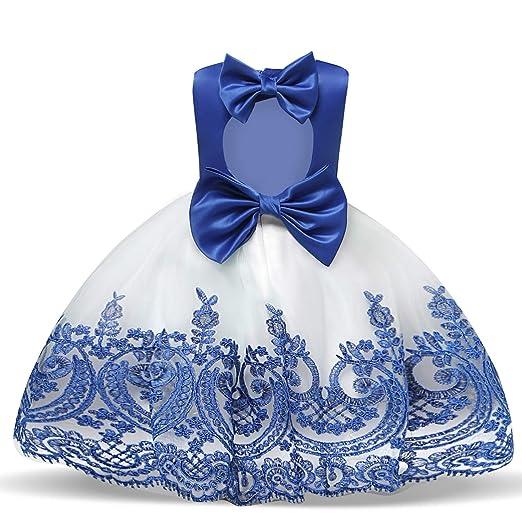 e4ec8c0555828 NNJXD Toddler Princess Flower Dress Baby Girls Birthday Wedding Party  Dresses