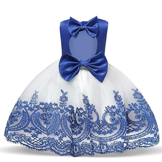 Amazon.com: NNJXD Vestido de princesa con flores, para bebés ...