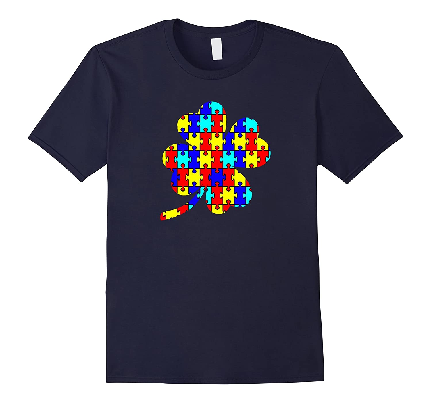 Autism shamrock t shirt-TH
