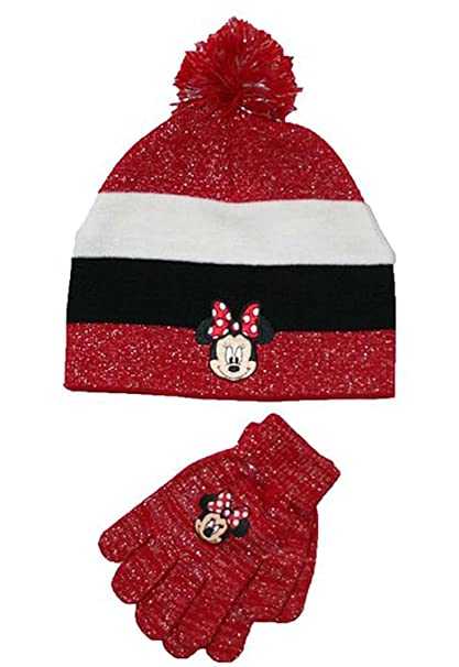 b2908b5ef98 Image Unavailable. Image not available for. Color  Disney Minnie Mouse Hat  and Gloves Set