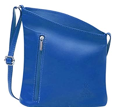 541e0073050a Handbag Bliss Italian Leather Small Crossover Crossbody Handbag Shoulder Bag  (Blue)  Amazon.co.uk  Luggage