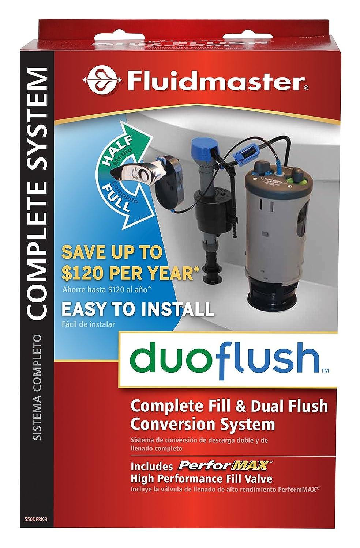 Fluidmaster 550DFRK-I Duo Flush Toilet Flush Valve Kit, Toilet Flush ...