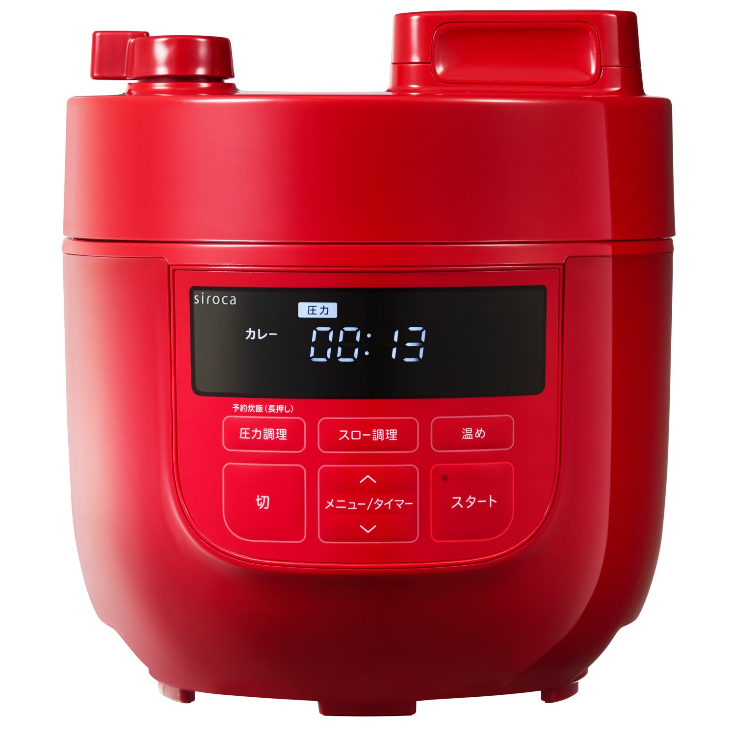 siroca Electric Pressure Cooker SP-D131(R) (Red)【Japan Domestic genuine products】