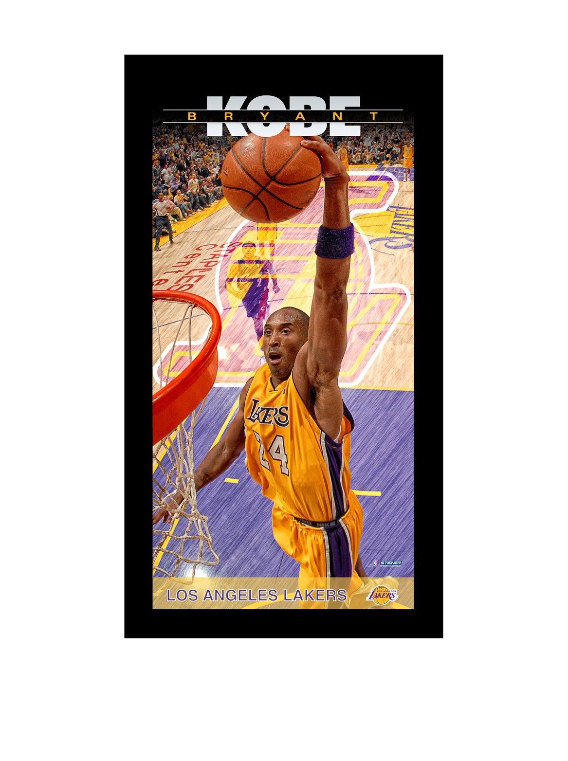 NBA Los Angeles Lakers Kobe Bryant Player Profile Wall Art 9.5x19 Framed Photo