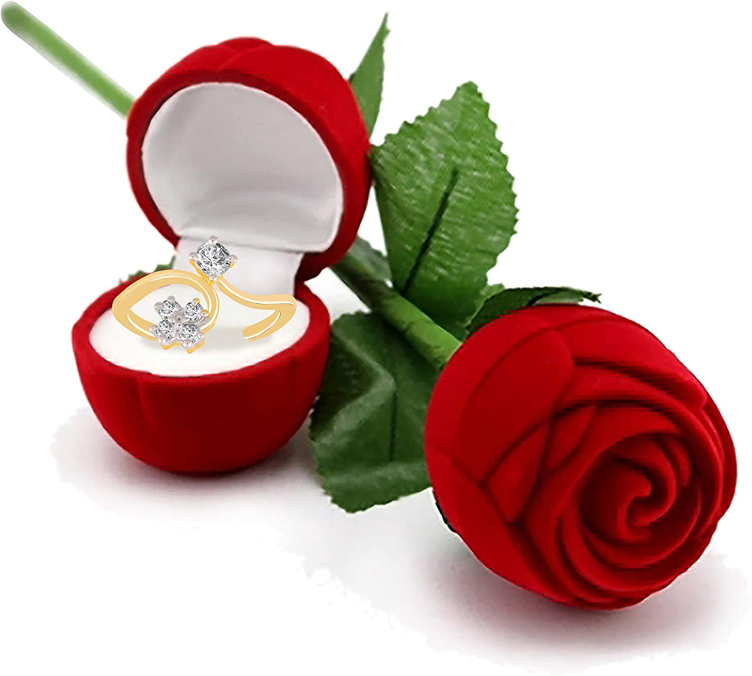 I Jewels Hamper of Sterling Silver Ring with Red Rose Gift Box for Girlfriend//Gift for Her//Gift for Valentine//Gift for Girl S001-FL49CO